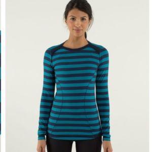 Lululemon Base Runner Long Sleeve Stripe Top